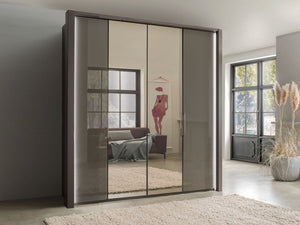 instrument FREYA bi-folding door wardrobe 150cm [havana] - INSTRUMENT FURNITURE