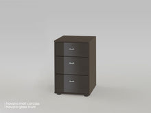 instrument Ipanema tall bedside with 3 drawers [Multicolour] - INSTRUMENT FURNITURE