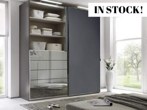 instrument Versa sliding wardrobe 200cm [volcano glass] IN STOCK - INSTRUMENT FURNITURE