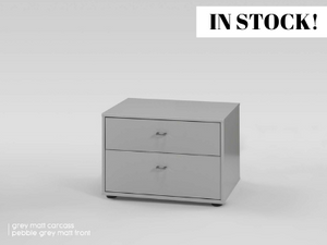 instrument Flex wide bedside [Pebble Grey Matt] - INSTRUMENT FURNITURE