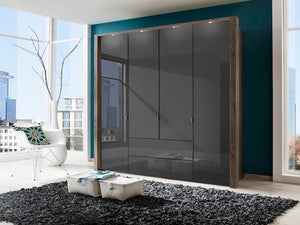 instrument Ipanema hinged wardrobe with drawers 200cm [Havana finish] - INSTRUMENT FURNITURE