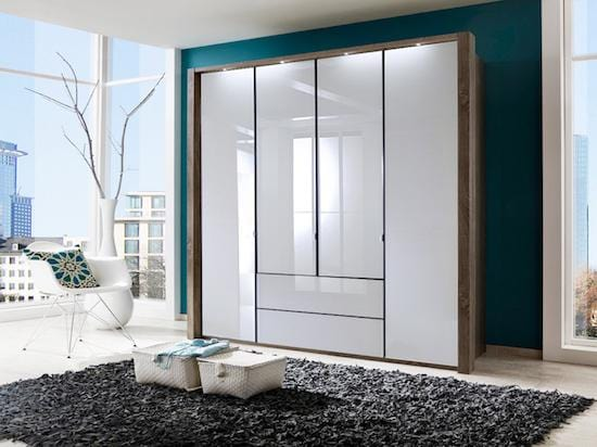 instrument Ipanema hinged wardrobe with drawers 200cm [White] - INSTRUMENT FURNITURE