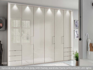 instrument FREYA bi-folding door wardrobe 200cm [champagne] - INSTRUMENT FURNITURE