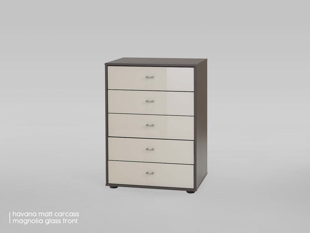 instrument Ipanema tall chest of drawers [Multicolour] - INSTRUMENT FURNITURE