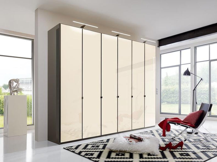 instrument Ipanema hinged wardrobe 300cm [Magnolia] - INSTRUMENT FURNITURE