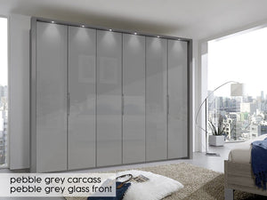instrument Rosario bi-folding door wardrobe 300cm [White] - INSTRUMENT FURNITURE