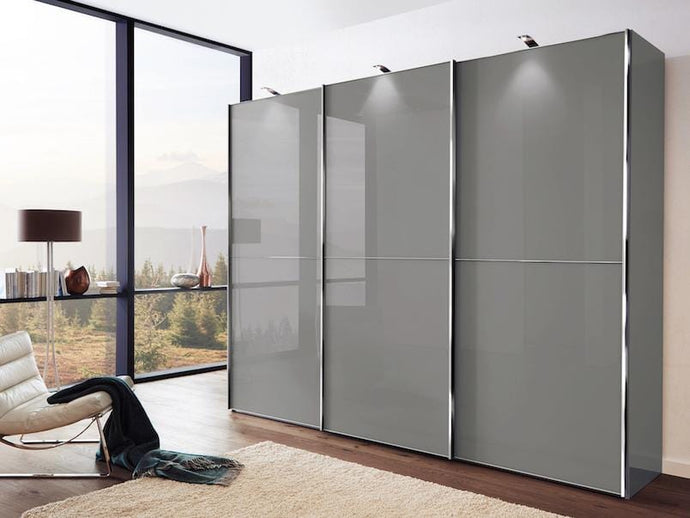 instrument Cali sliding mirror wardrobe 280cm [Pebble Grey] - INSTRUMENT FURNITURE