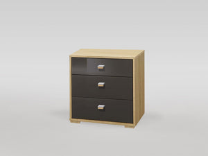instrument Enzo bedside with 3 drawers [Multicolour] - INSTRUMENT FURNITURE