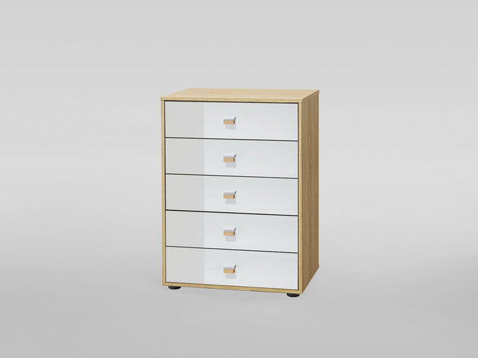instrument Enzo tall chest with 5 drawers [Multicolour] - INSTRUMENT FURNITURE