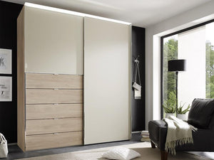 instrument Versa sliding wardrobe 167cm [sand glass] - INSTRUMENT FURNITURE
