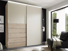 instrument Versa sliding wardrobe 225cm [sand glass] - INSTRUMENT FURNITURE