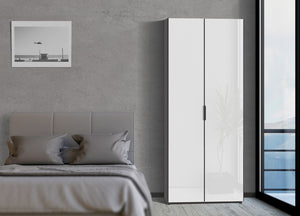 instrument PERLA hinged door wardrobe 120cm [White] - INSTRUMENT FURNITURE