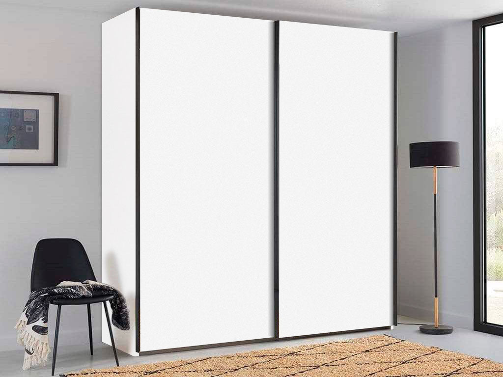 instrument PERLA sliding wardrobe 200cm [White] - INSTRUMENT FURNITURE