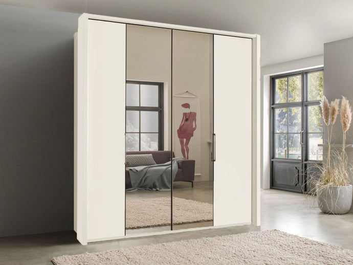 instrument FREYA bi-folding door wardrobe 150cm [white] - INSTRUMENT FURNITURE