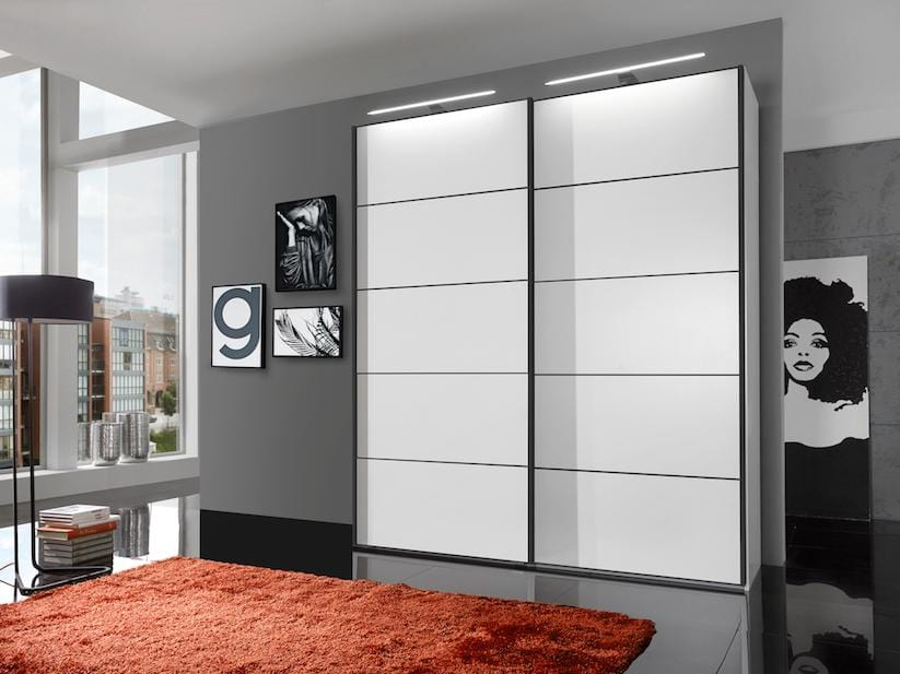 instrument Cali sliding mirror wardrobe 200cm [White] - INSTRUMENT FURNITURE