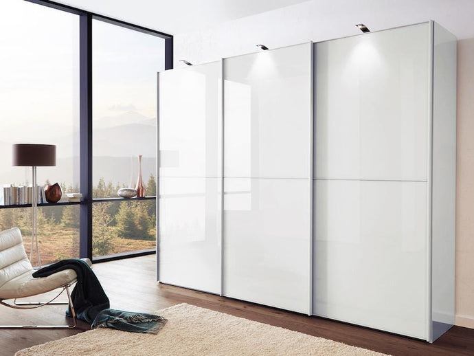 instrument Cali sliding mirror wardrobe 280cm [White] - INSTRUMENT FURNITURE
