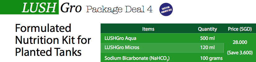 LushGro Package Deal 4: Formulated Nutrition Kit for Planted Tanks