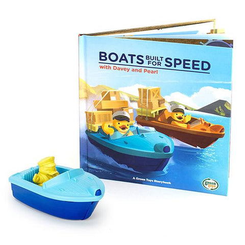 Green Toys Launch Boat & Storybook Set (2+ Years)