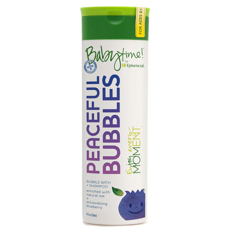 Peaceful Bubbles Bubble Bath + Shampoo 8oz (ages 0+)