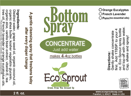 Eco Sprout Bottom Spray Concentrate 2 Pack