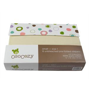 Prefolds - Unbleached Cotton Osocozy Traditional Fit 6 pack