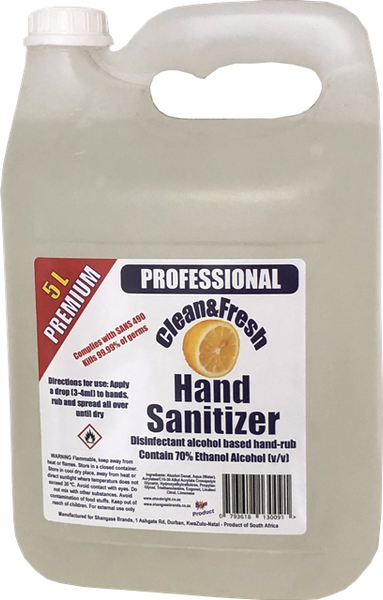5L Clean&Fresh Sanitizer 70% alcohol