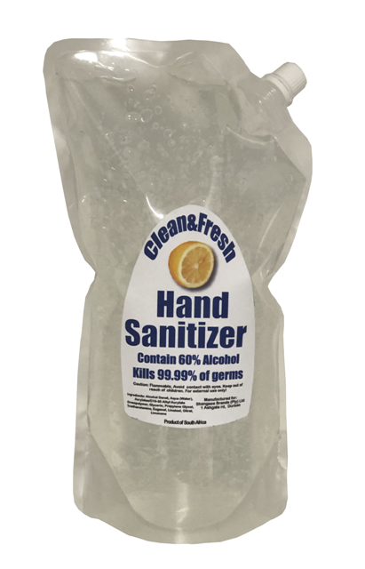 Clean&Fresh Hand Sanitizer gel 1 Liter  Doy Pouch with spout