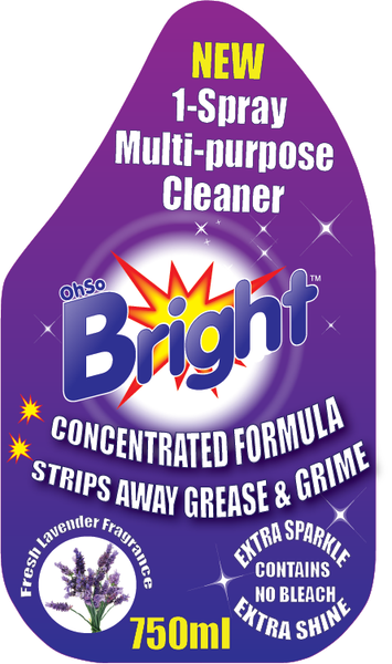OhSoBright Multipurpose cleaning spary front label