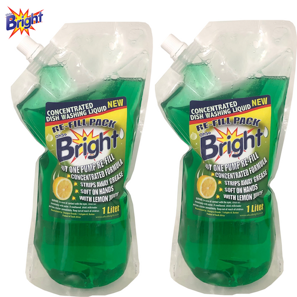 OhSoBright 1 Litre dishwashing liquid Doy Pack