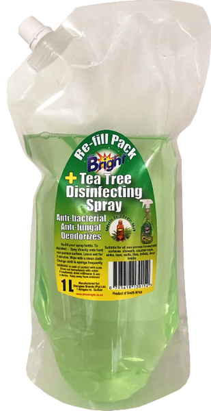 OhSoBright 1Liter Tea Tree Disinfectant Spray re-fill pack