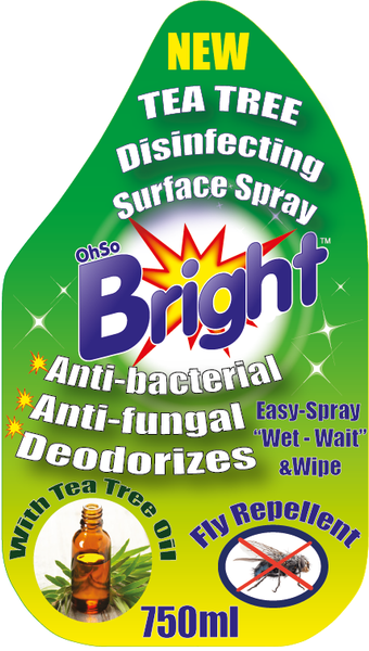 OhSoBright Tea tree spary front label