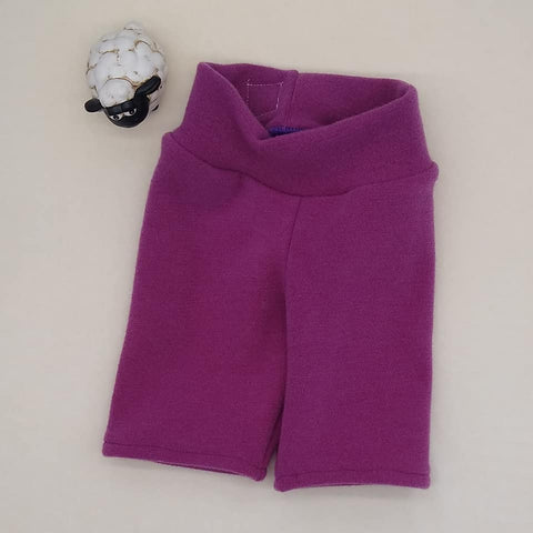 WCW Wool Interlock Short CAPRI Skinnies- Razzmatazz- 2T