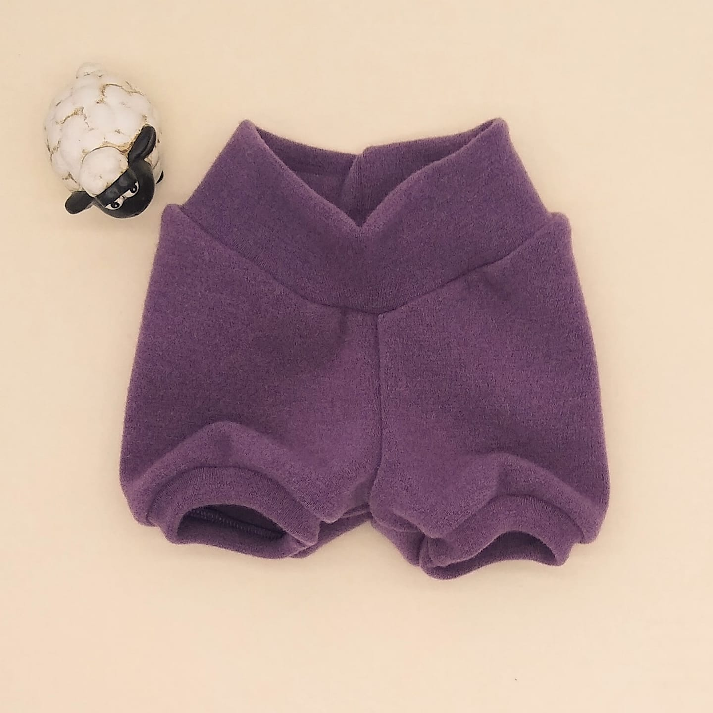 WCW Wool Interlock Bubble Shorties Diaper Cover- Mixed Berries- XS, S, SL, M or ML