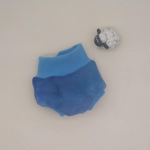 WCW Wool Interlock Bubble Soaker Diaper Cover-  XS Extra Small