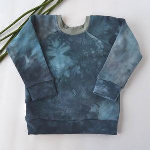 WCW Bamboo French Terry Raglan- Supercell - Size 9 months