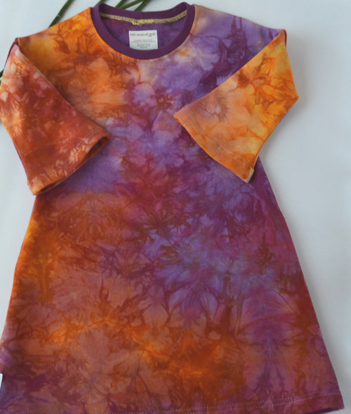 WCW Bamboo French Terry  Dress- Spring Sunrise - Size 2