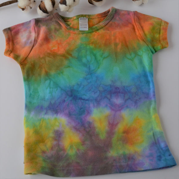 WCW Short Sleeve Girly Tee-  Rainbow -  12-18 months or  4