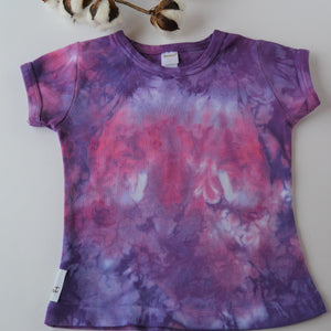 WCW Short Sleeve Girly Tee-  Hydrangea - 12 months