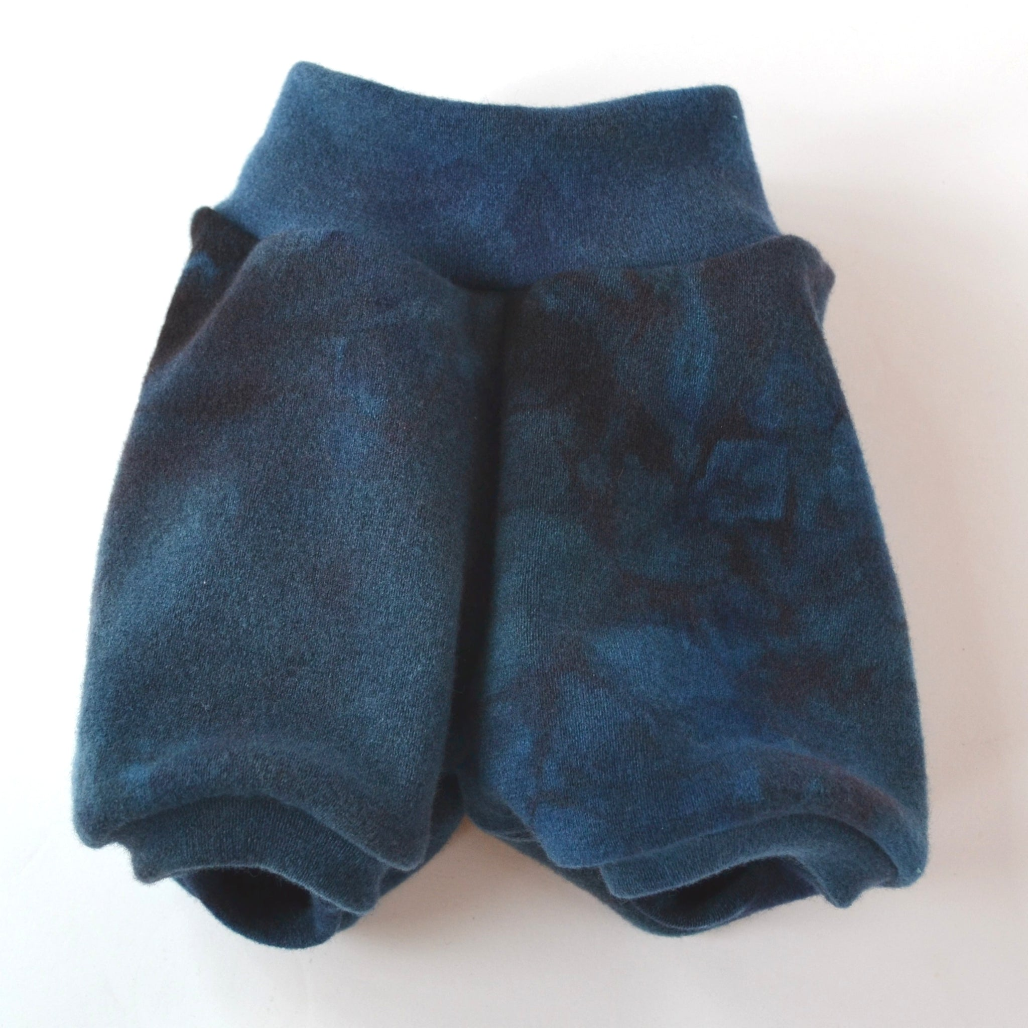 WCW Wool Interlock Bubble Shorties Diaper Cover- Angry Sea ReImagined-  SL