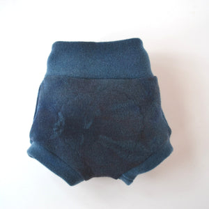 WCW Wool Interlock Bubble Soaker Diaper Cover- Angry Sea ReImagined- XS
