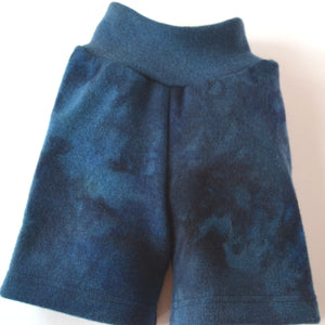 WCW Wool Interlock Hemmed Shorties Diaper Cover- Angry Sea ReImagined- Small Long