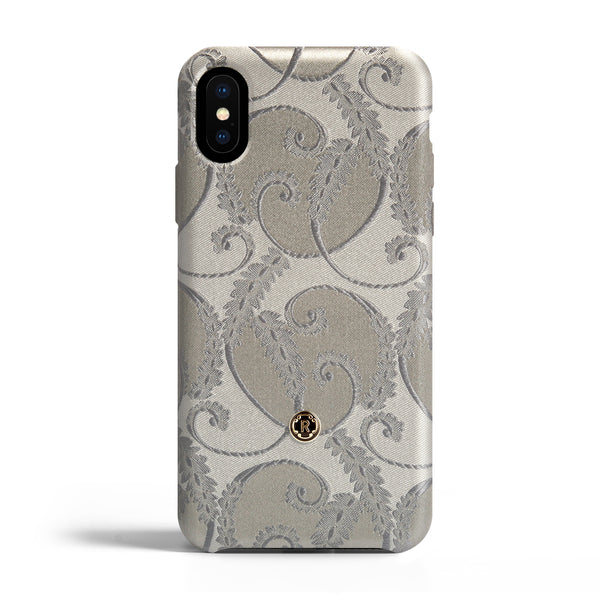 iPhone X/Xs Case - Silver of Florence Silk