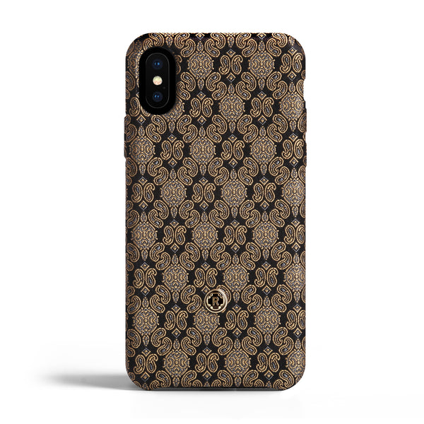 iPhone Xs Max Case - Venetian Gold Silk