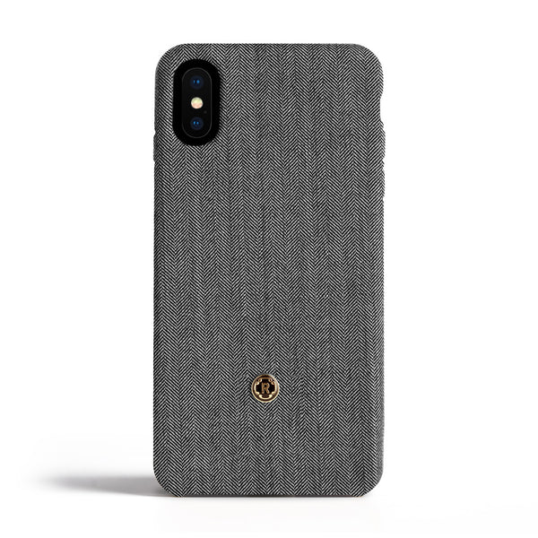 iPhone X/Xs Case - Herringbone - Oyster Grey