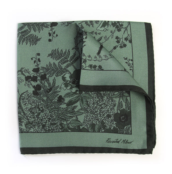 Pocket Square - Jardin - Sage