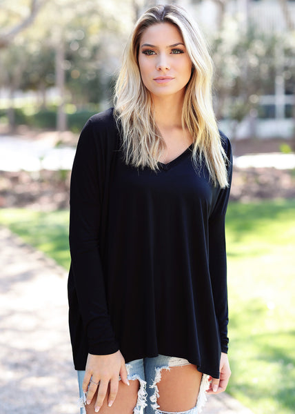 Original V-Neck Long Sleeve Top
