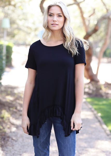 Original Draped Ruffle Top