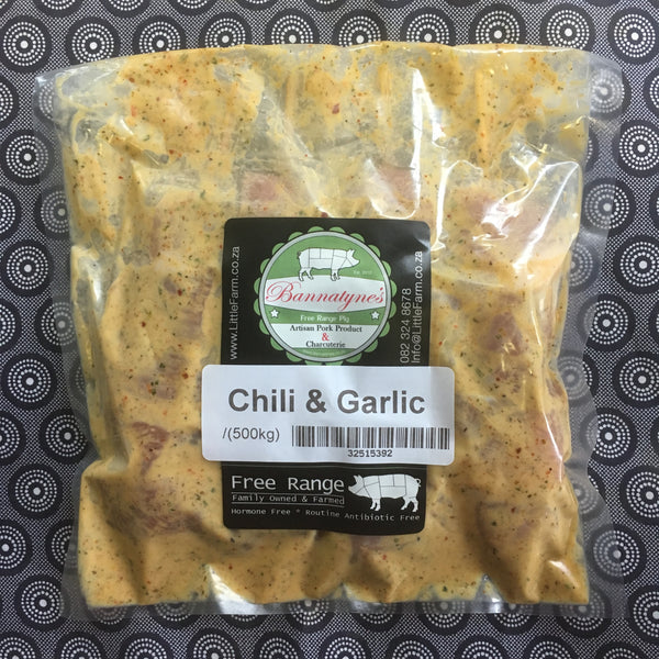 Bannatyne's Pork Sosaties (Chili & Garlic) +-500g