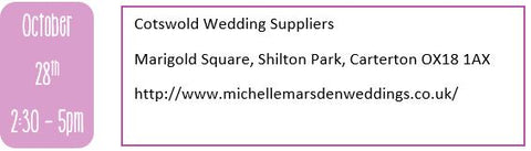 Oxfordshire wedding fairs, autumn wedding fairs, Cotswold Wedding Suppliers