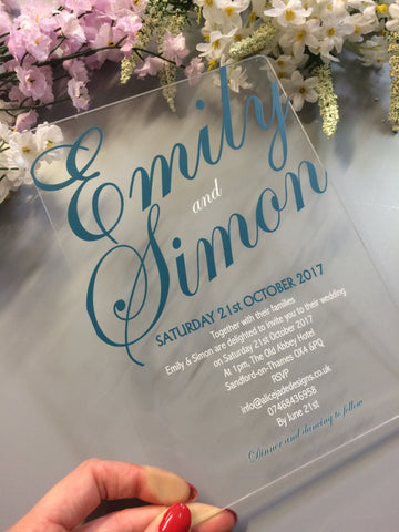 Invitation for Wedding or Engagement Party created by Alice Jade Designs